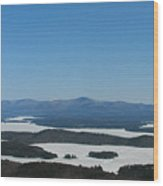 Lake Winnipesaukee View From Mt. Major Wood Print