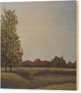 Lakeridge Meadow Wood Print