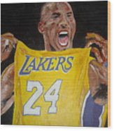Lakers 24 Wood Print