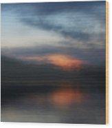 Lake's Last Light Wood Print
