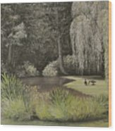 Lakeside At Mountain Playhouse Wood Print