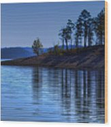 Lakeside-beavers Bend Oklahoma Wood Print