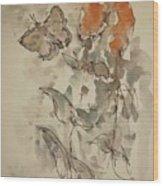 Lakeside Butterflies Wood Print