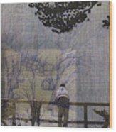 Lakeside Fog- Colorado Wood Print