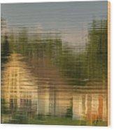 Lakeside Living On Wiggins Lake - Abstract Wood Print