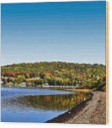 Lakeside Portage Wood Print