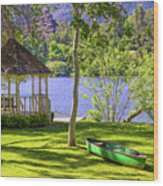 Lakeside Relaxation Wood Print