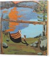 Lakeside Retreat Wood Print