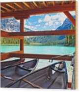 Lakeview From The Boathouse Wood Print