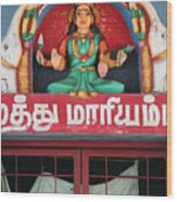 Lakshmi And Her Elephants, Valparai Wood Print