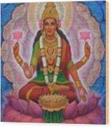 Lakshmi Blessing Wood Print