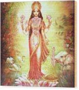 Lakshmi Goddess Of Fortune And Prosperity Wood Print