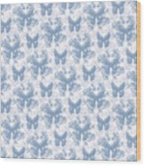 Lalabutterfly Blue Wedgewood Reverse Wood Print
