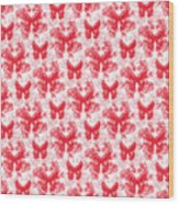 Lalabutterfly Red And White Wood Print