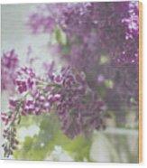 Lalac Bokeh Wood Print