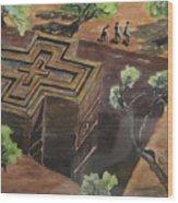 Lalibela Church Wood Print