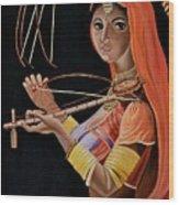 Lambani Girl Wood Print