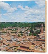 Lamberti Tower View Of Verona Italy Wood Print