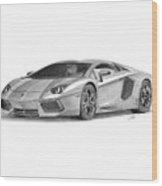 Lamborghini Aventador Lp700-4 Wood Print