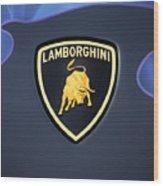 Lamborghini Emblem Wood Print