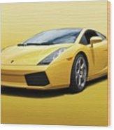 Lamborghini Gallardo 'banana Republic' II Wood Print