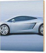 Lamborghini Gallardo 'profile Of Terror' Wood Print