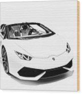 Lamborghini Huracan Lp610-4 Spyder Wood Print