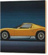 Lamborghini Miura 1966 Painting Wood Print