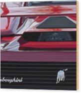 Lamborghini Rear View Wood Print by Jill Reger