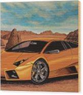 Lamborghini Reventon 2007 Painting Wood Print