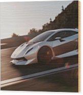 Lamborghini Sesto Elemento - 12 Wood Print