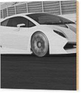Lamborghini Sesto Elemento - 21 Wood Print