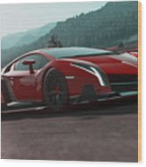 Lamborghini Veneno Wood Print