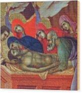 Lamentation Of Christ Fragment 1311 Wood Print