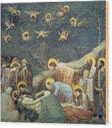 Lamentation Of Christ Wood Print