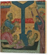 Lamentation Of The Dead Christ Wood Print