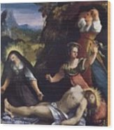 Lamentation Over The Body Of Christ 1517 Wood Print