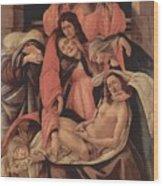 Lamentation Over The Dead Christ 1490 Wood Print