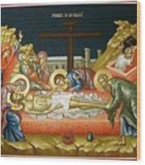 Lamentation Upon The Grave Wood Print