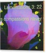 Lamentations His Compassions Never Fail Wood Print
