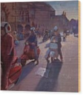 Lambrettas At Winchester Wood Print