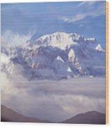 Lamjung Himal Peak Above The Clouds Wood Print