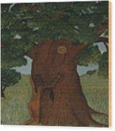 Hugging The Wisdom Wood Print
