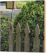 Lamp And Gate Wood Print