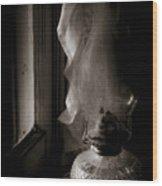 Lamp By The Window Wood Print