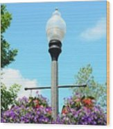 Lamp Post Wood Print