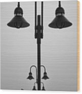 Lamp Posts Wood Print