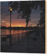 Lamplight And Daybreak  Wood Print