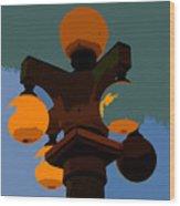 Lamppost Wood Print
