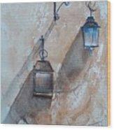 Lamps Wood Print